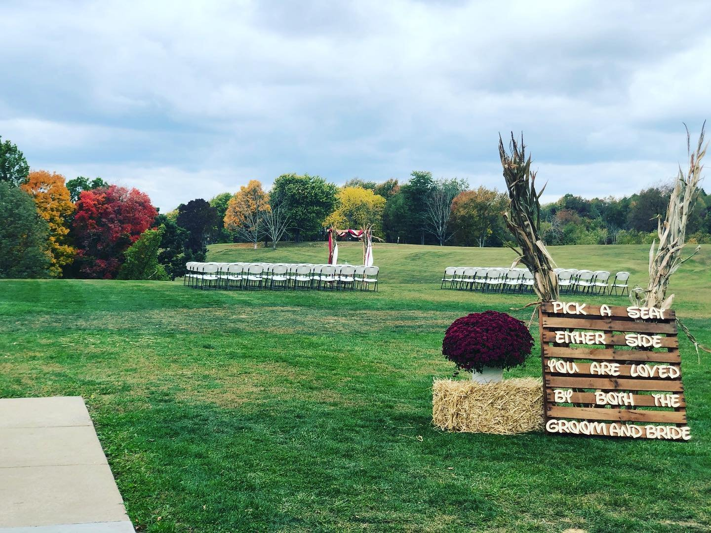 Outdoor Wedding at Banquet Hall